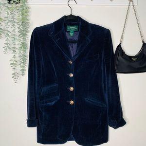 Vintage Ralph Lauren Blue Velvet Blazer